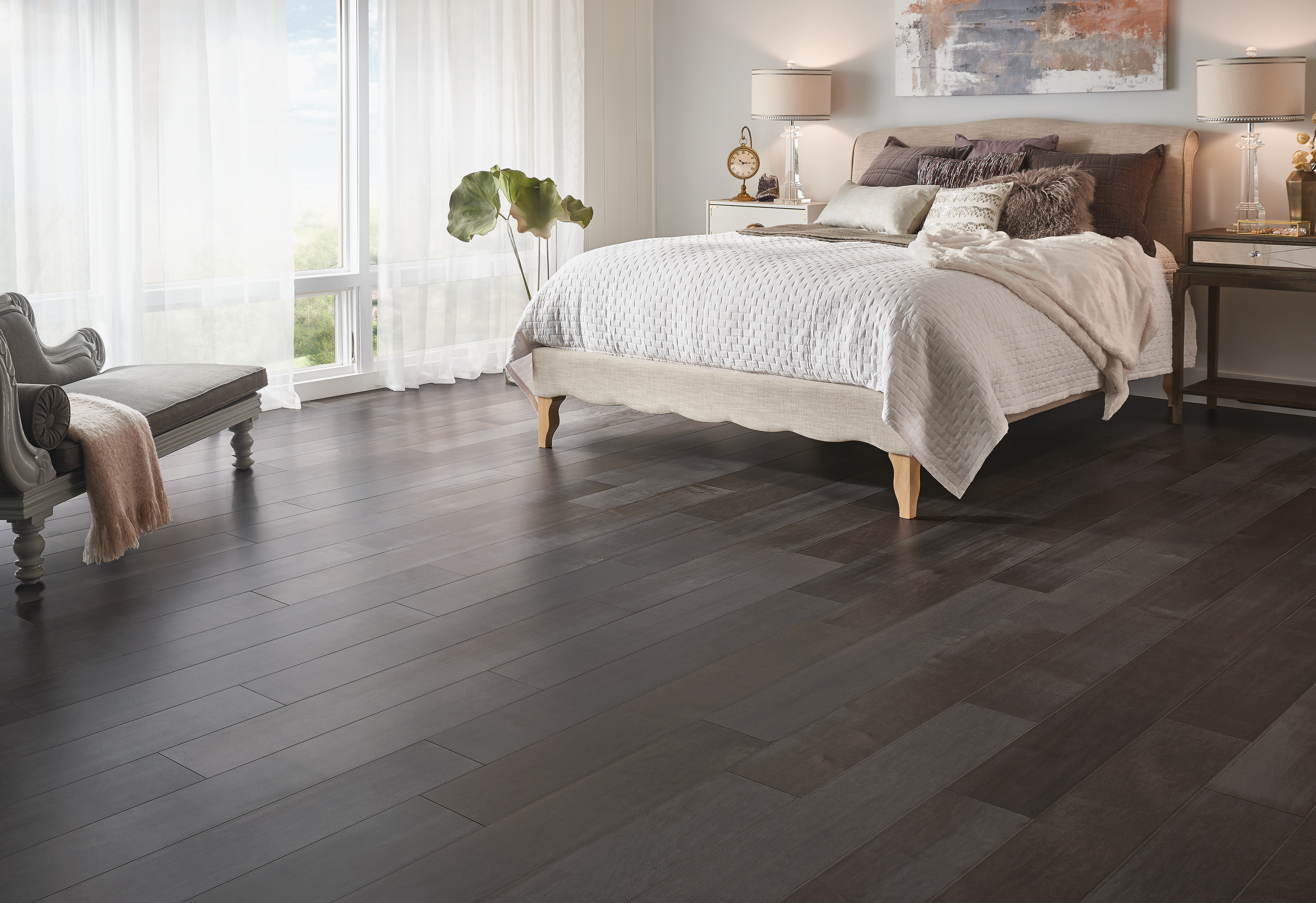 Artisan Collective Depth of Dark Gray Engineered Hardwood EMAC75L402EE